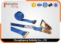 "Cina 2"" x 20' Blue E Track Truck Ratchet Tie Down Strap With Capacity 4400lbs perusahaan"