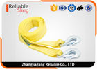 Cina 50mm 3 Ton Vehicle Heavy Duty Webbing Straps / Snatch Tow Straps With Forged Hooks pabrik