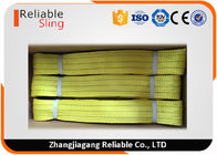 3T Yellow Polyester Flat Webbing Sling Eye Lifting Slings High Flexible Material