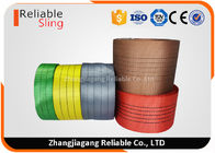 Single Ply Synthetic Woven Polyester Sling Webbing Straps Colorful Flat  Industrial Webbing