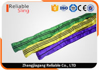 Cina Tested Endless Polyester Round Slings for Pipe Lifting Safety Factor 7-1 perusahaan