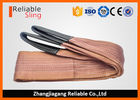 Cina 6000 KG Polyester Webbing Lifting Slings Safety Factor 7-1 With Reinforced Loop Ends perusahaan
