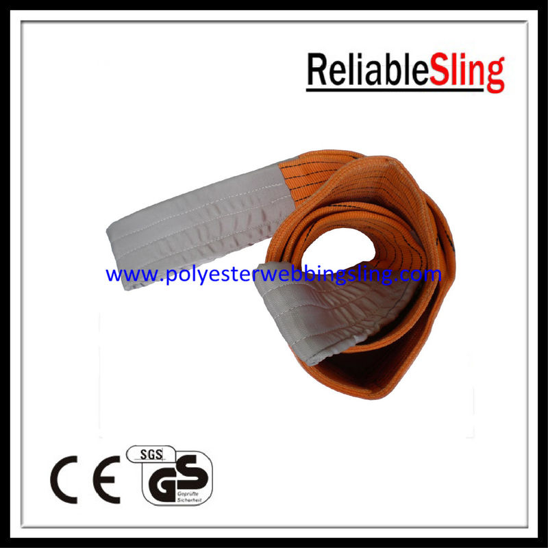 Double Ply 10 Ton flat polyester woven webbing sling / lifting web slings