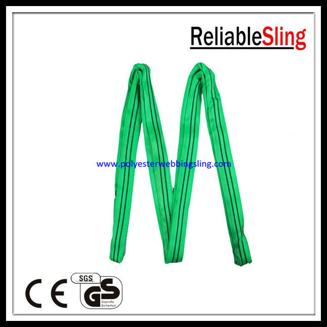 CE GS ISO Approved 8t 10t 12t Polyester Round Slings Customized
