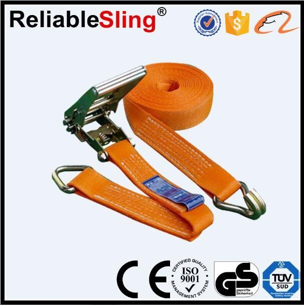 High Strength Ratchet Tie Down Strap Color Customized CE GS ISO Approved