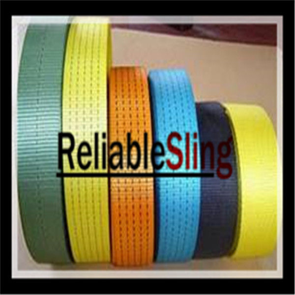 Professional 2'' Colorful Lashing Strap Webbing / Ratchet Lashing Belt For Tie Down