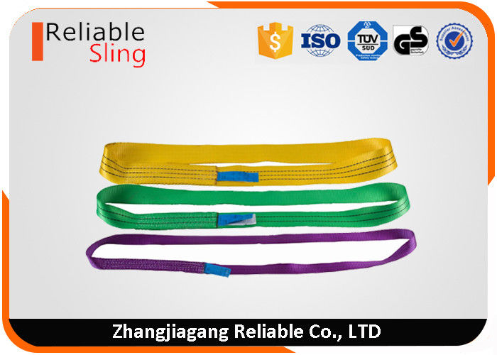 EN1492-1 Color Code Polyester Endless Tube Pipe Flat Webbing Strap Sling
