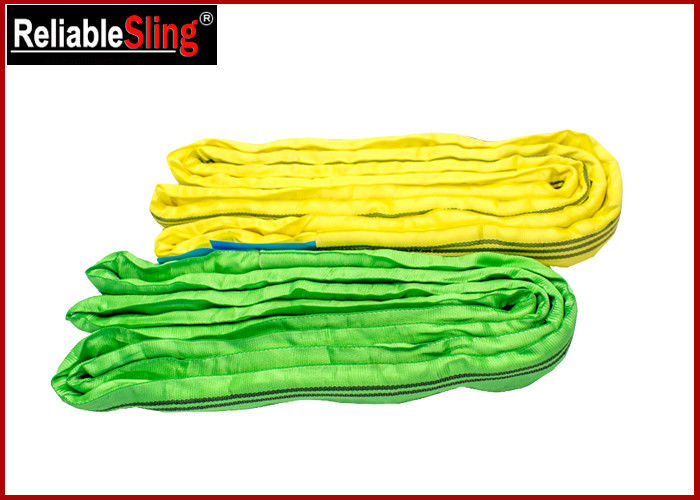 High-Strength Polyester Yarn Color Code Polyester Lifting Slings Endless Cargo Slings