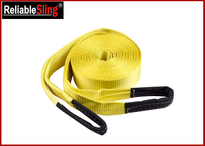 Custom Off Road Winch Polyester Heavy Duty Tow Straps with Reinforced Eyes