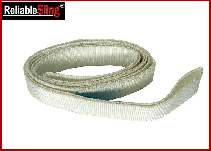 White Polyester Flat Lifting Belt Endless Webbing Sling SF 7 CE GS Certified