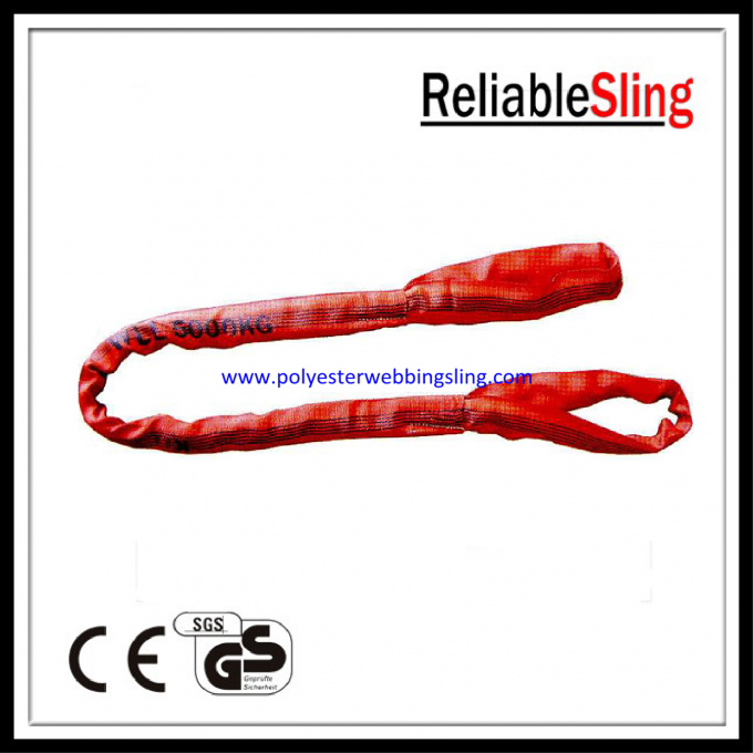 Soft eye and eye Flat Polyester Round Slings belt with CE / GS / ISO Standard