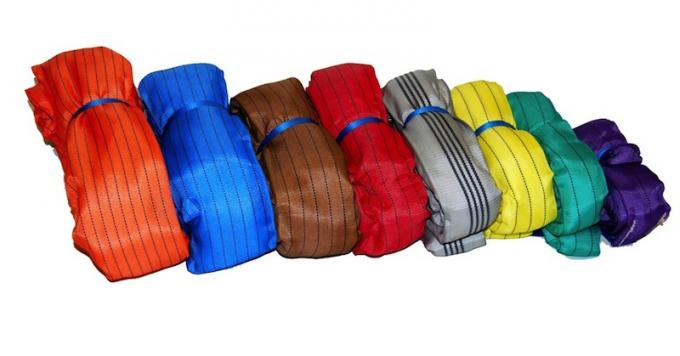 EN1492-2 Heavy Duty Polyester Round Webbing Sling Belt For Lifting 8ton