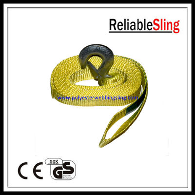 Cina 50mm 1.5 Ton truck / vehicle recovery tow strap , heavy duty webbing straps pabrik