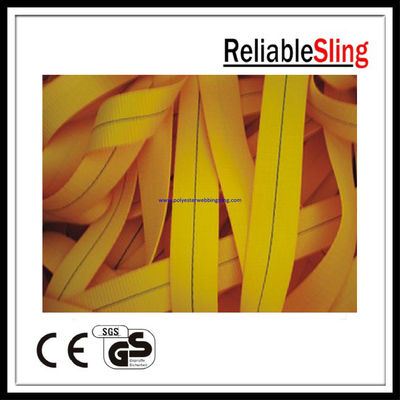 1 Ton 25mm Yellow Ratchet Strap Webbing , Polyester tie down webbing