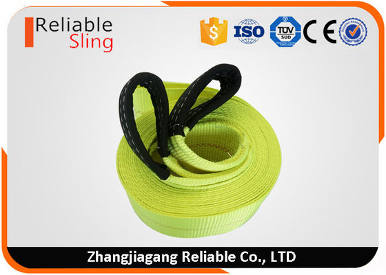Cina 4 in x 30 ft Heavy Duty Tow Straps 20000 Lb Capacity , Polyester Heavy Duty Webbing Straps pabrik