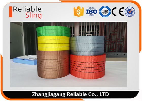 Cina Lightweight Synthetic Polyester Lifting Webbing Wear Resistant Sling Webbing Tape pabrik